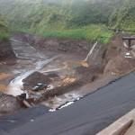 Réfection de l'étanchéité du barrage de FATAUTIA