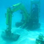 Pose de réseaux sous-marin Bora Bora
