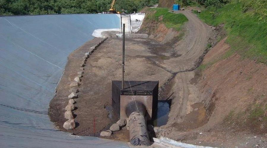Réfection du masque amont du barrage de Papenoo